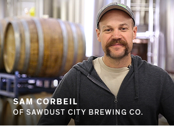Sam Corbeil of Sawdust City Brewing Co.