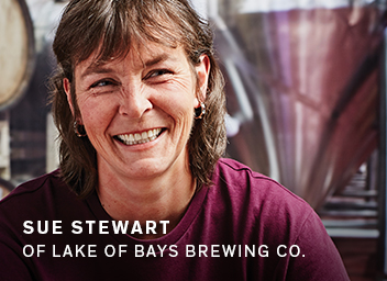 Sue Stewart of Lake of Bays Brewing Co.