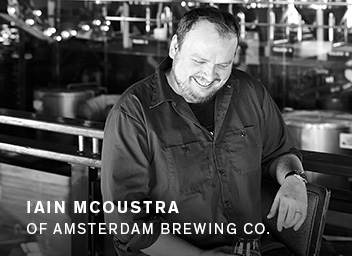 Iain McOustra of Amsterdam Brewing Co.