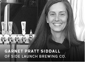 Garnet Pratt Siddall of Side Launch Brewing Co.