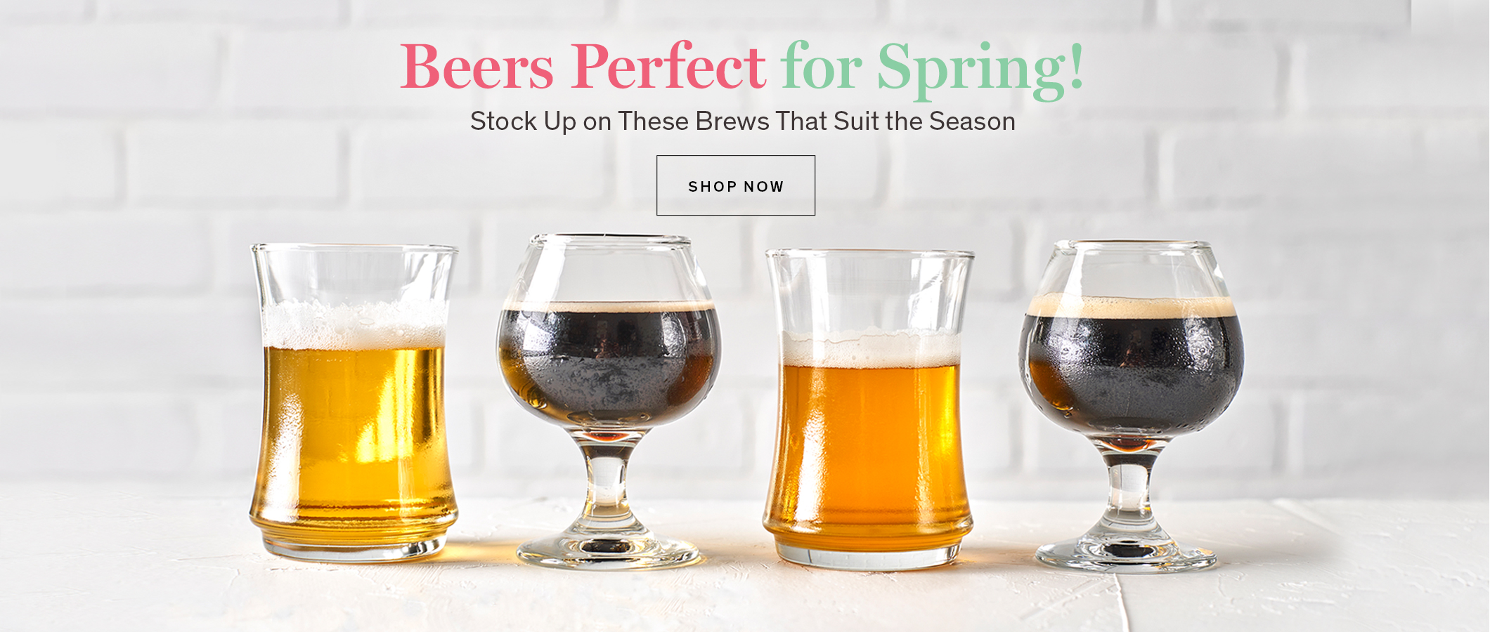 Beers Perfect for Spring!  Stock Up on These Brews That Suit the Season BUY NOW