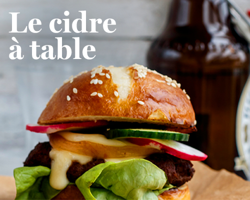 Le cidre à table