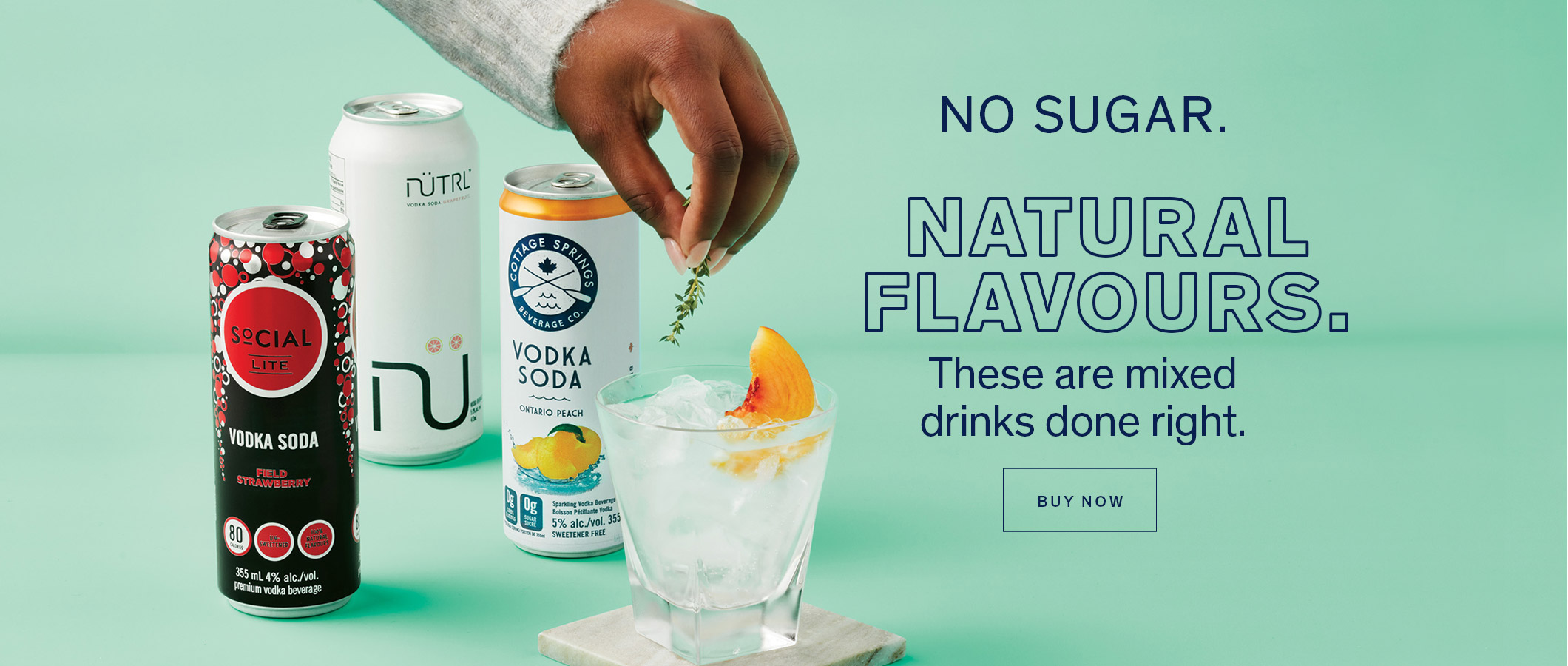 NO SUGAR. NATURAL FLAVOURS. These are mixed drinks done right. BUY NOW