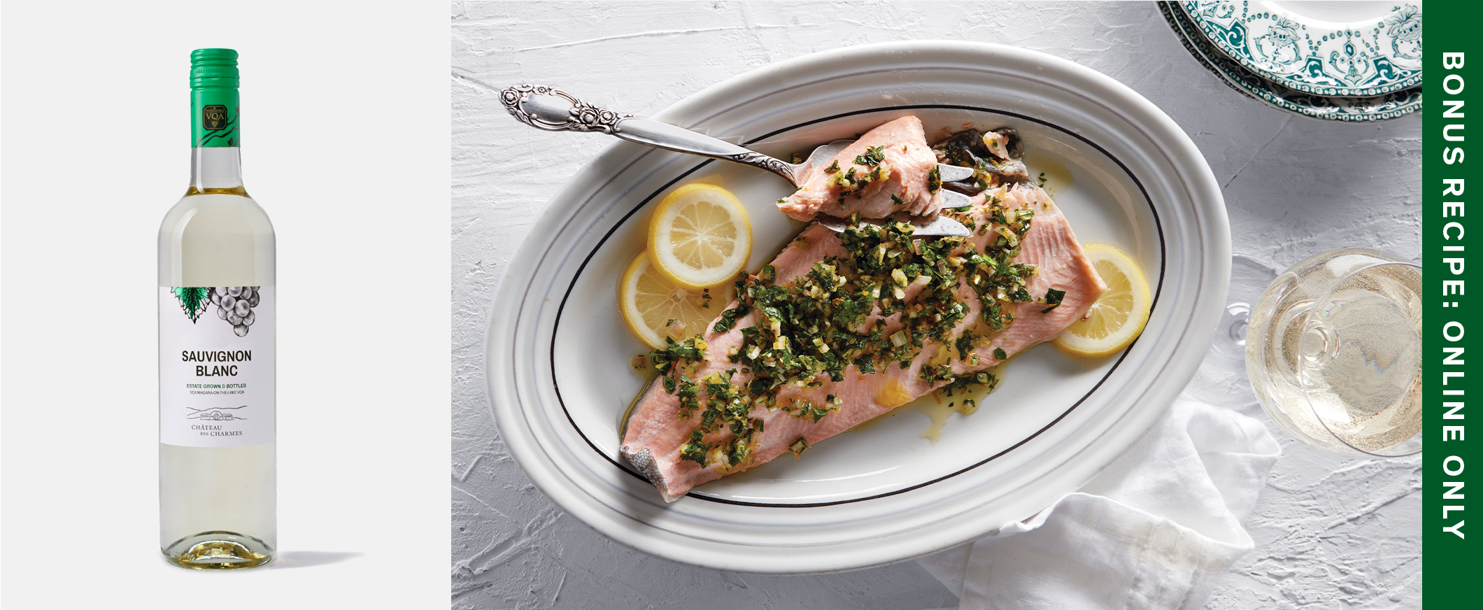 White Wine Cold-Poached Trout with Sage Gremolata