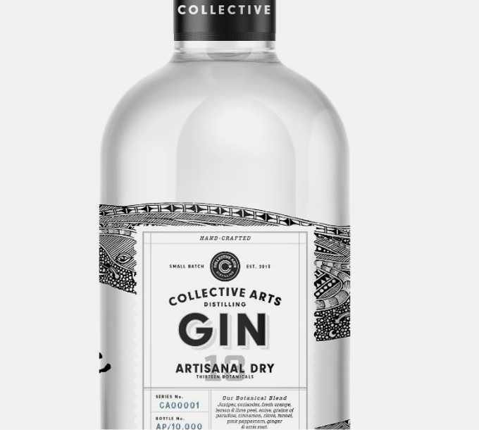 Gin artisanal Collective Arts