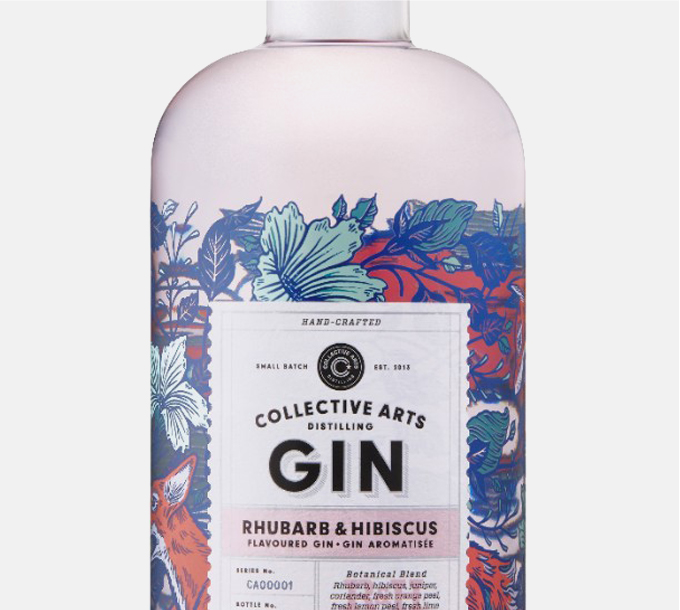 Gin Collective Arts Rhubarbe et hibiscus