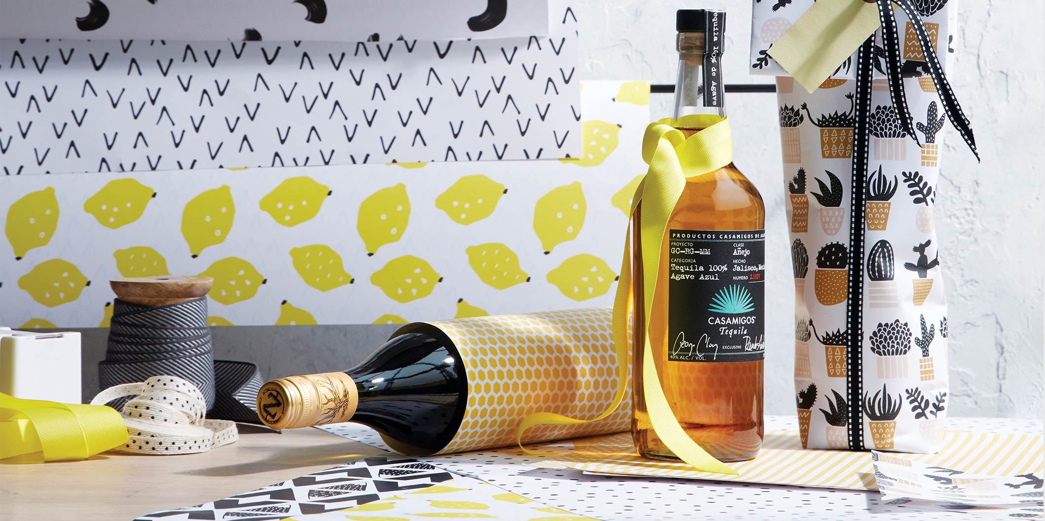 Image from gifts with paper and ways to wrap bottles