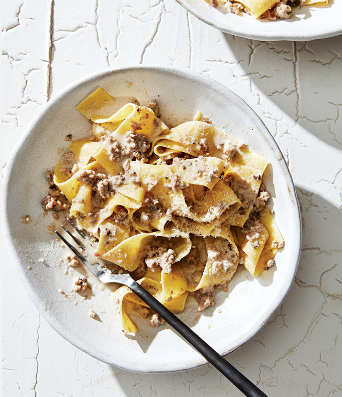 Pappardelle with White Ragu