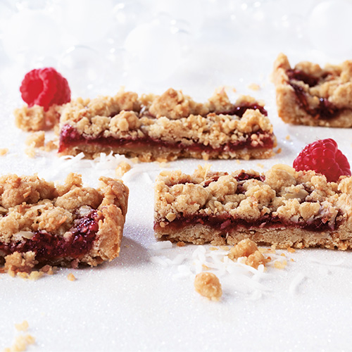Raspberry & Toasted Coconut Bars