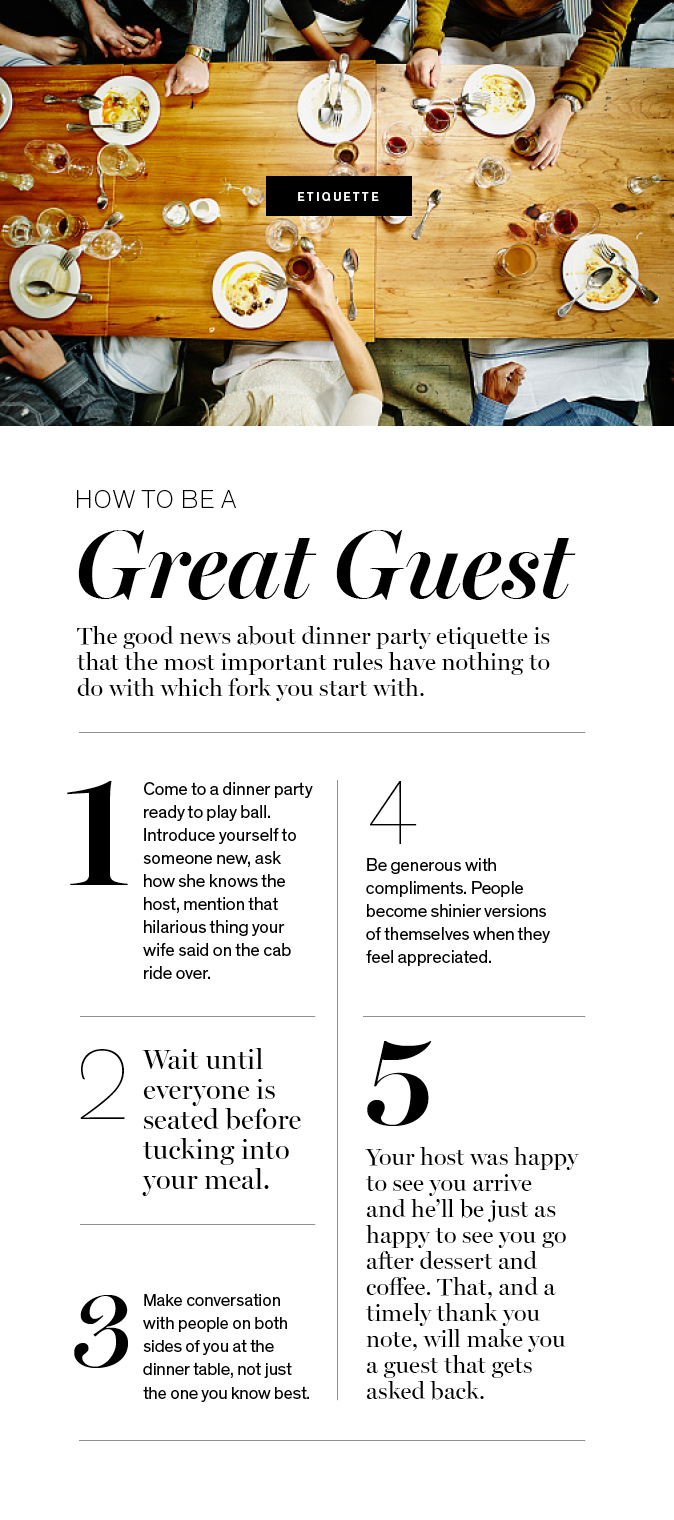 How to be a Great Guest