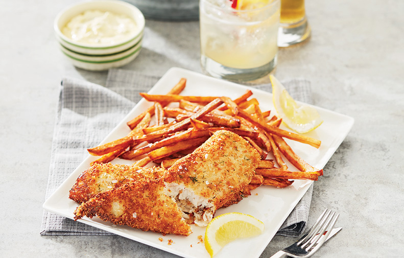 Oven-Baked Fish and Chips