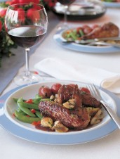 Sautéed Chicken with Red Wine Sauce