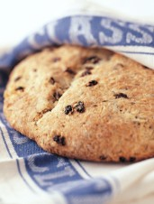 Old-Fashioned Soda Bread with Caraway & Raisins