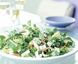 Watercress, Endive and Apple Salad