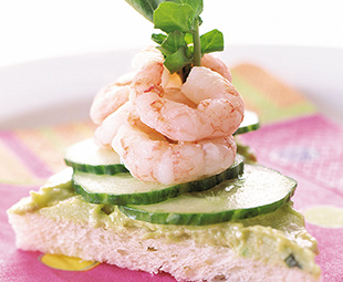 Baby Shrimp with Avocado Butter