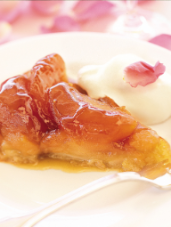 Rustic Tarte Tatin with Rose Cream