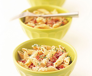 Penne with Pancetta, Tomatoes and Vodka