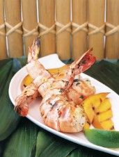 Grilled Thai Shrimp and Mango