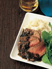 Grilled Steak with Bourbon Sauce