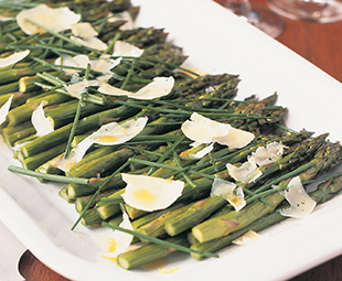 Roasted Asparagus, Chive and Asiago Salad