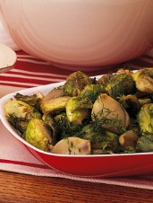 Brussels Sprouts with Shallots and Mustard