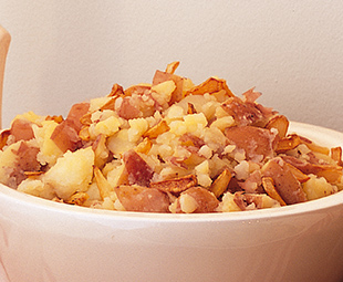 Crushed Red Potatoes with Garlic