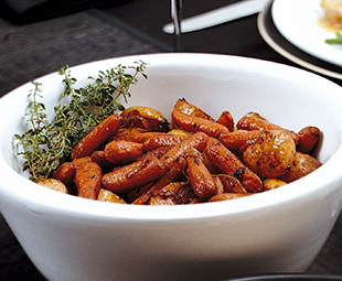 Balsamic-Roasted Baby Potatoes and Carrots