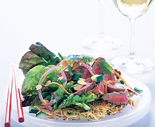Vietnamese Beef Salad with Sweet-Spicy Dressing