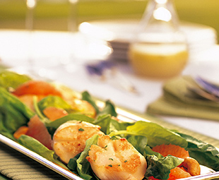 Spinach, Grapefruit and Scallop Salad
