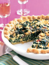 Swiss Chard Tart With 4 Cheeses