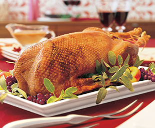 Roast Goose with Prune Stuffing and Pan Gravy