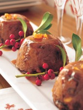 Hasty Christmas Pudding with Orange Hard Sauce