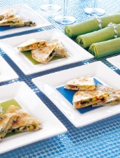 Red Carpet Quesadillas with Lobster and Mango