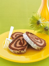 Chocolate Roulade Filled with Chocolate Cream