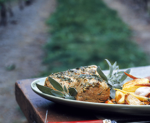 Roasted Veal Tenderloin with Sage
