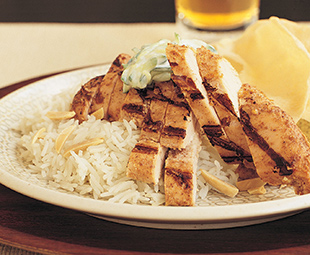 Chicken Tikka with Basmati and Raita