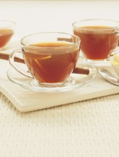 Hot Ginger Tea with Rum
