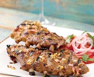 Slow Barbecued Pork Ribs with Chilean Salad