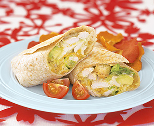 Toasted Turkey Caesar Wraps