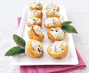 Salt-Baked Potatoes with Goat Cheese