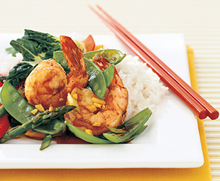 Spicy Shrimp and Snow Pea Stir-Fry