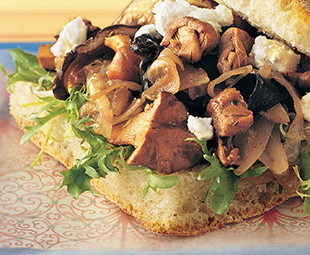 Wild Mushrooms, Caramelized Onions and Goat Cheese