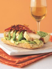 Chicken, Bacon Avocado, Herb Mayonnaise and Iceberg Lettuce