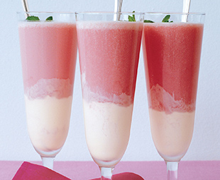 Icewine Ginger Rhubarb Float