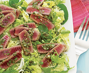 Tuna with Herbed Vinaigrette