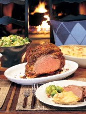 Pink Peppercorn-Crusted Prime Rib of Beef with Cabernet Gravy