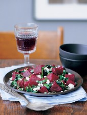 Roasted Beet, Spinach and Goat Cheese Mix