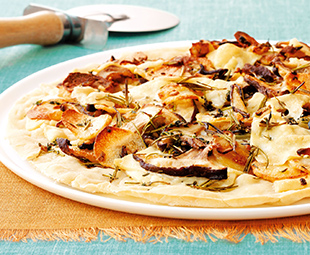 Shiitake and Potato Pizza