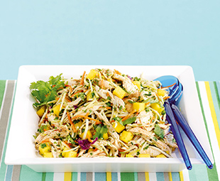 Chipotle Chicken and Mango Slaw