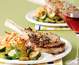 Roasted Veal Chops with Lemon Anchovy Aïoli